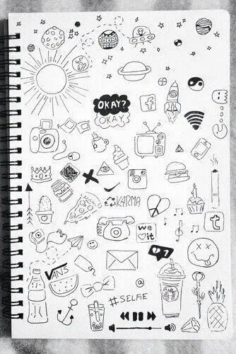 55 Cool Easy Things To Draw In Your Sketchbook In 2020 Doodle