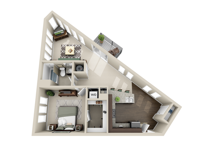 High Quality Studio Apartment Floor Plans