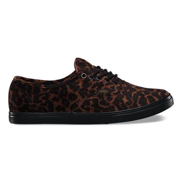 Vans Suede Leopard Authentic Lo Pro (black black) from Vans ... c6ae88fef967