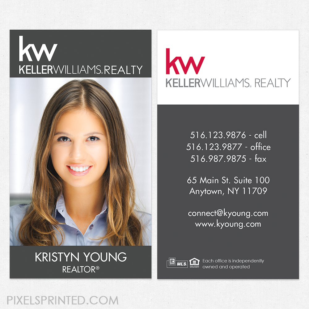 Keller Williams Business Cards Kw Business Cards Realtor Business