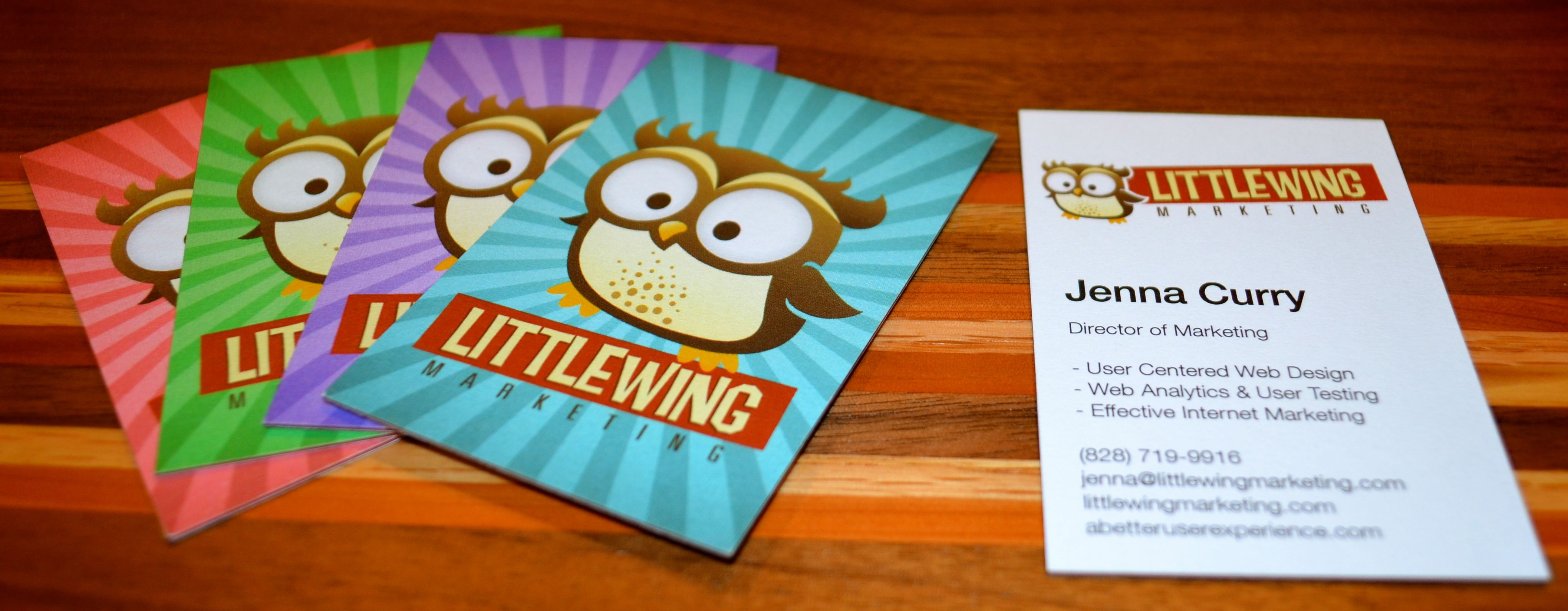 awesome luxe printfinity business cards from moo for little wing
