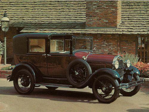 1929 Ford Model A Sedan | 1929 Ford Model A Town Car (Postcard) | Flickr - Photo Sharing!
