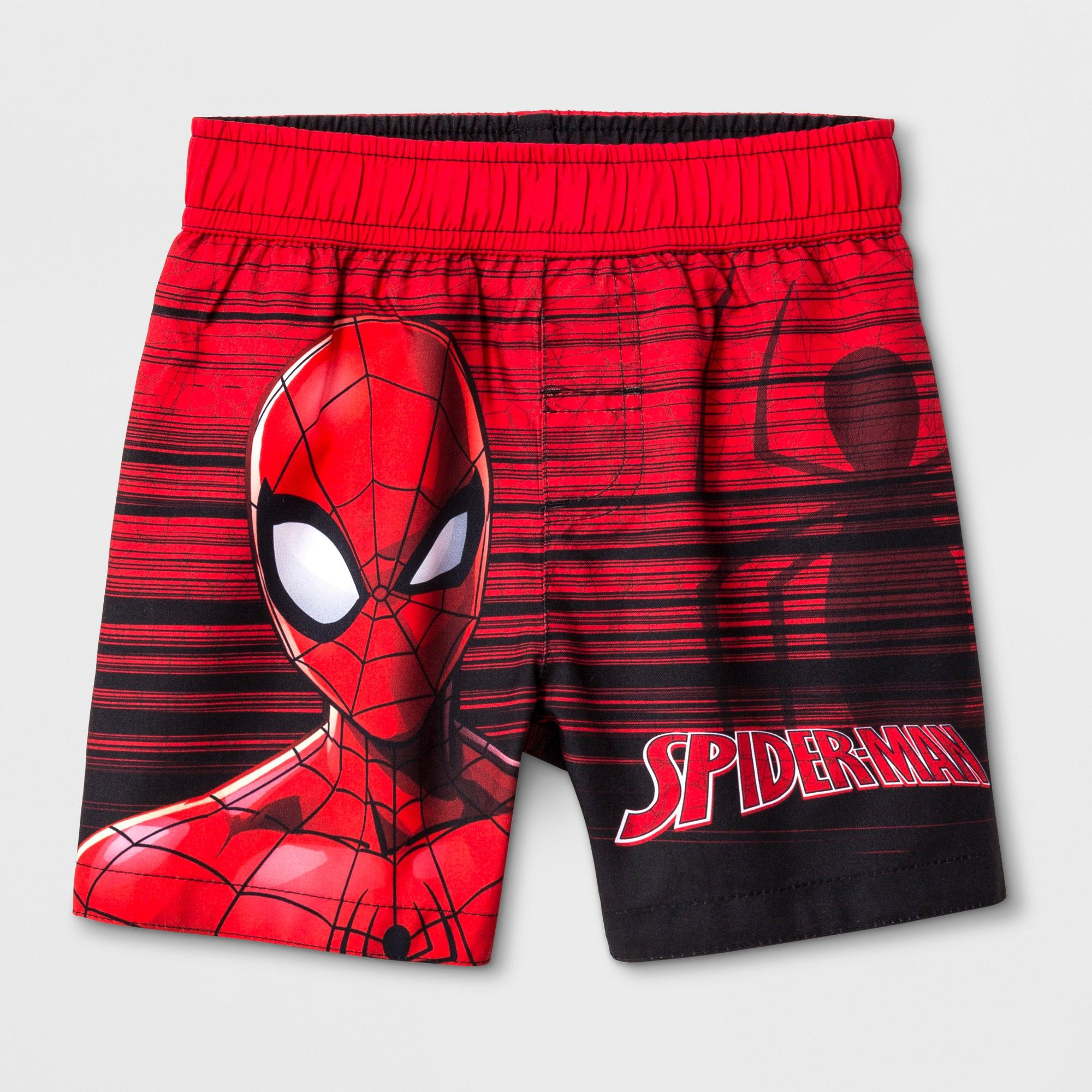 Boys swimming shorts Marvel Spiderman character long surf shorts