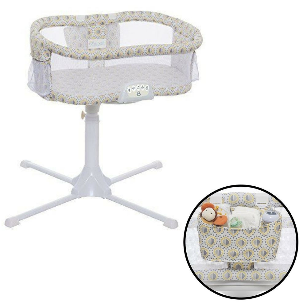 Baby Swivel Sleeper Bassinet Portable Stand Home Bedroom Safe Comfort Lemon  Drop