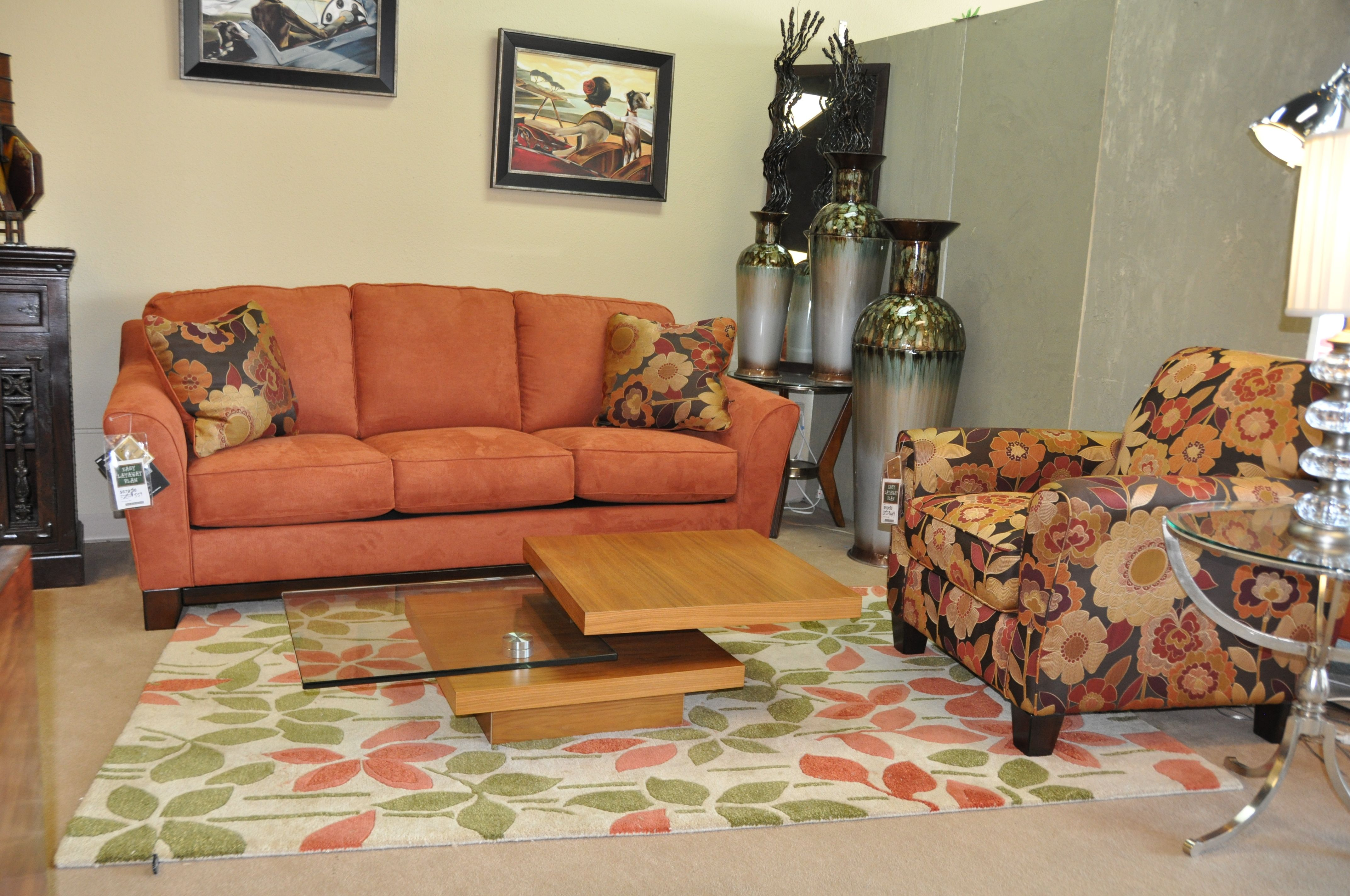 Living Room Sets Sacramento Ca tangerine is the new color of 2013. this living room set is on