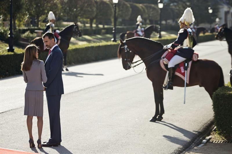 La presidenta de Chile, Michelle Bachelet, agasajada por los Reyes de España