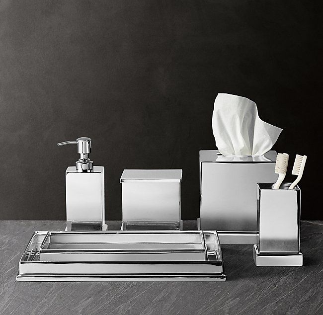 Small Bathroom Decor Bath Accessories, Modern Chrome Bathroom Accessories Set