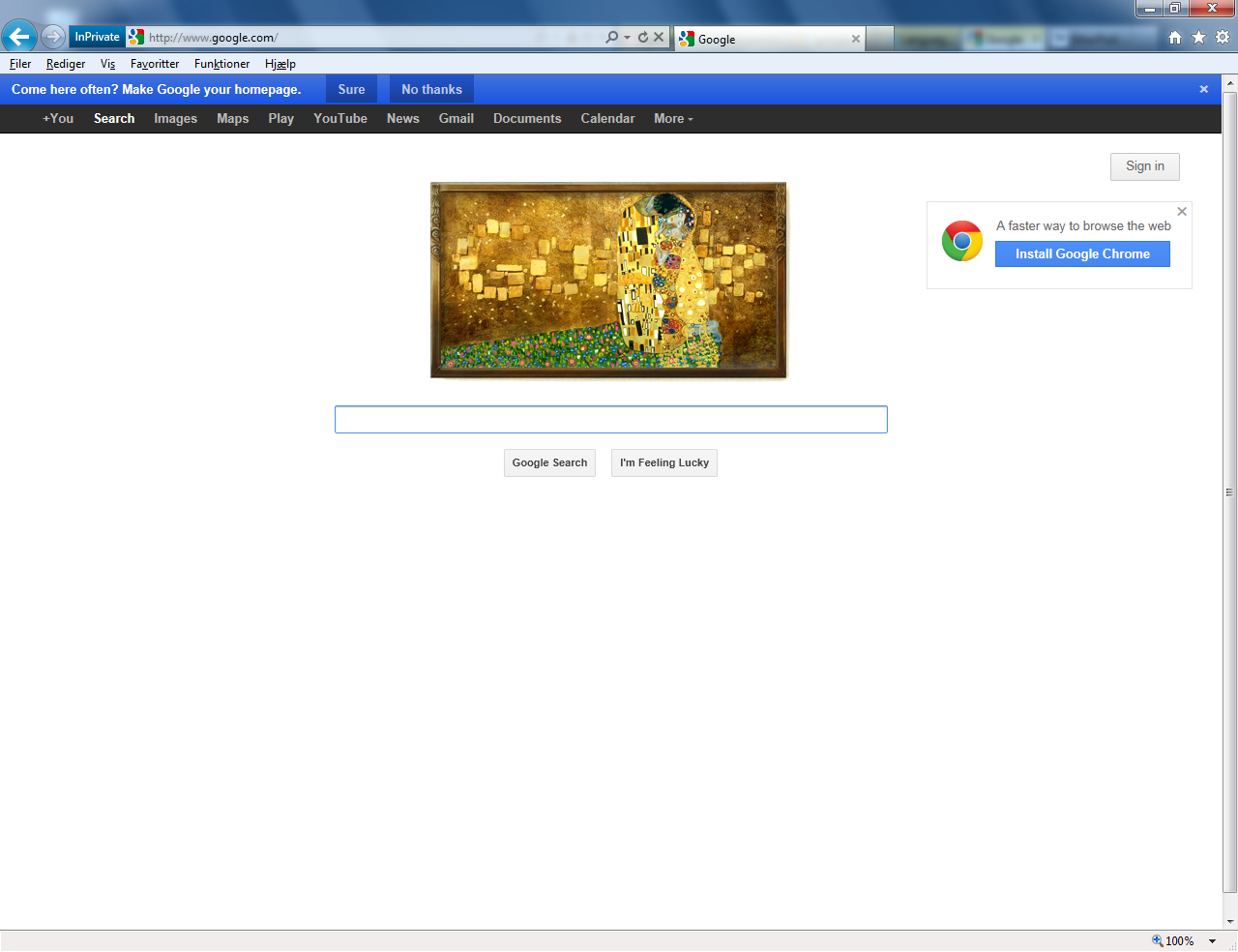 Google's Home Page Too Promotional?   Google homepage, Search map ...