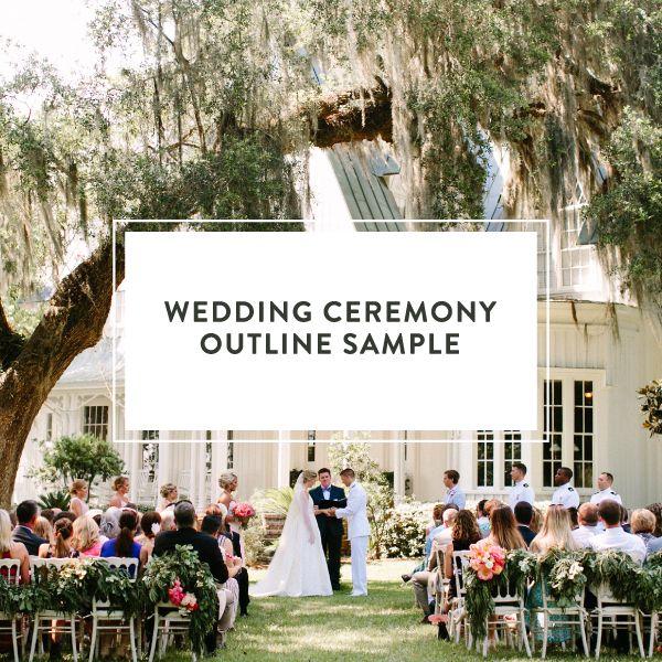 Wedding Ceremony Outline Sample