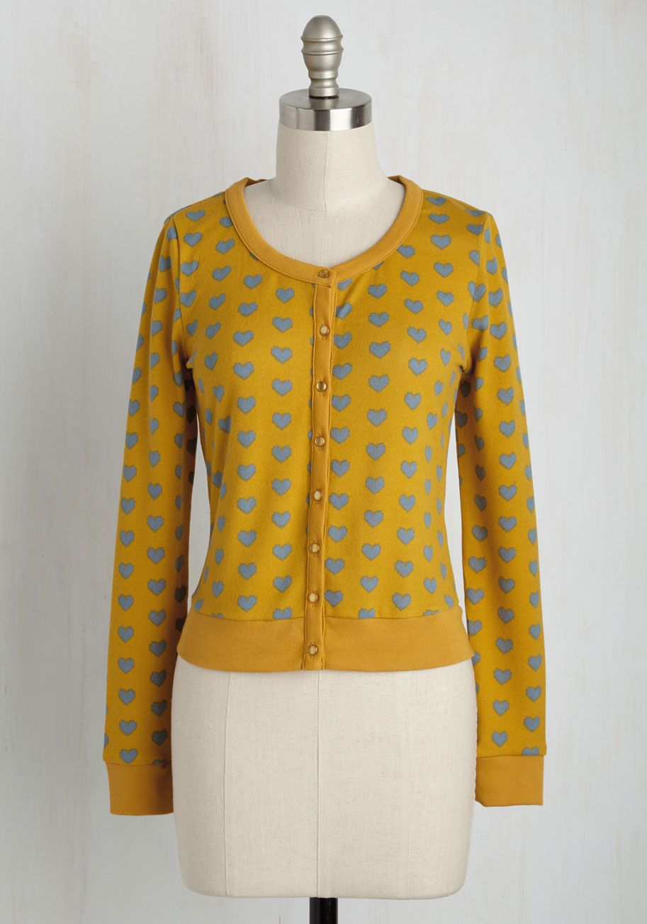 Styled to the Coeur Cardigan in Topaz   Topaz, Mustard yellow ...