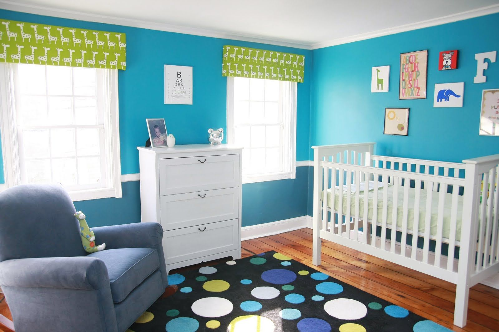 Beautiful Bright Nursery Love These Colors