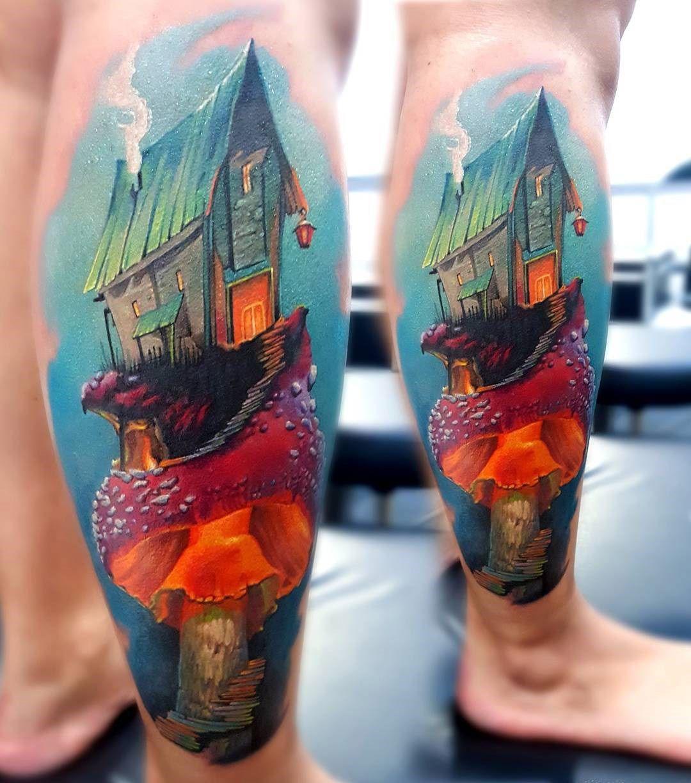 Magical House on a Mushroom | Tatuajes, Ideas de tatuajes y Anatomía