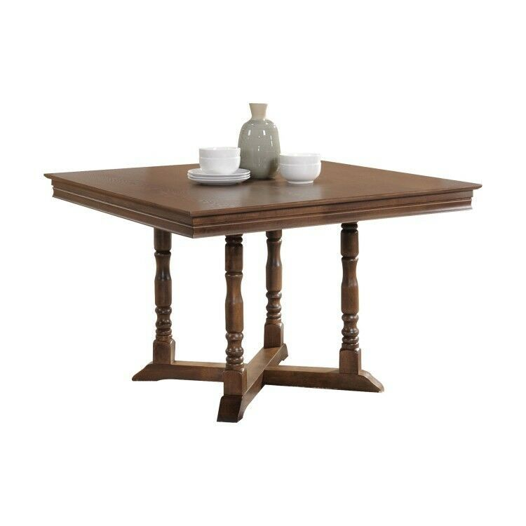 Details About Wooden Dining Table Square Walnut Counter Desk
