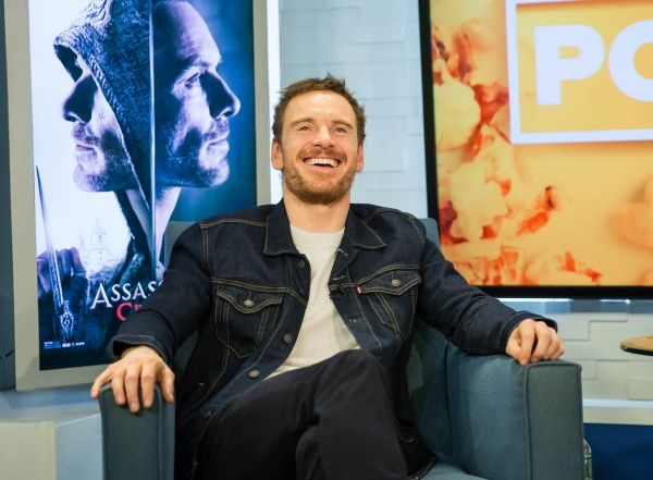 Michael Fassbender at 'Popcorn with Peter Travers' on Dec 23, 2016