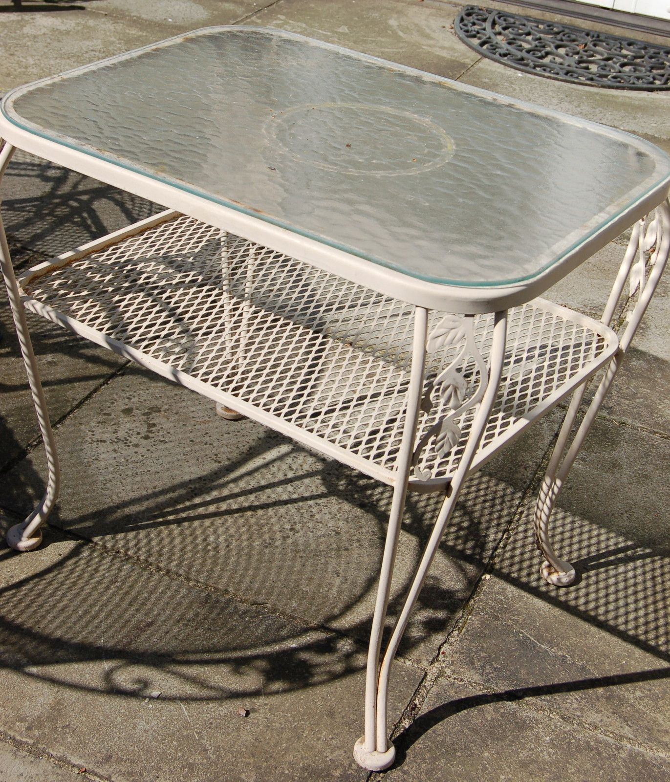 Lyon Shaw Wrought Iron Patio Table Wrought Iron Patio Table