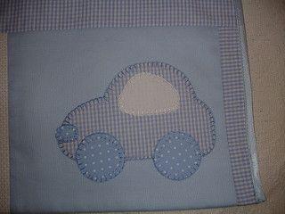 Manta flanela - detalhe  do carro