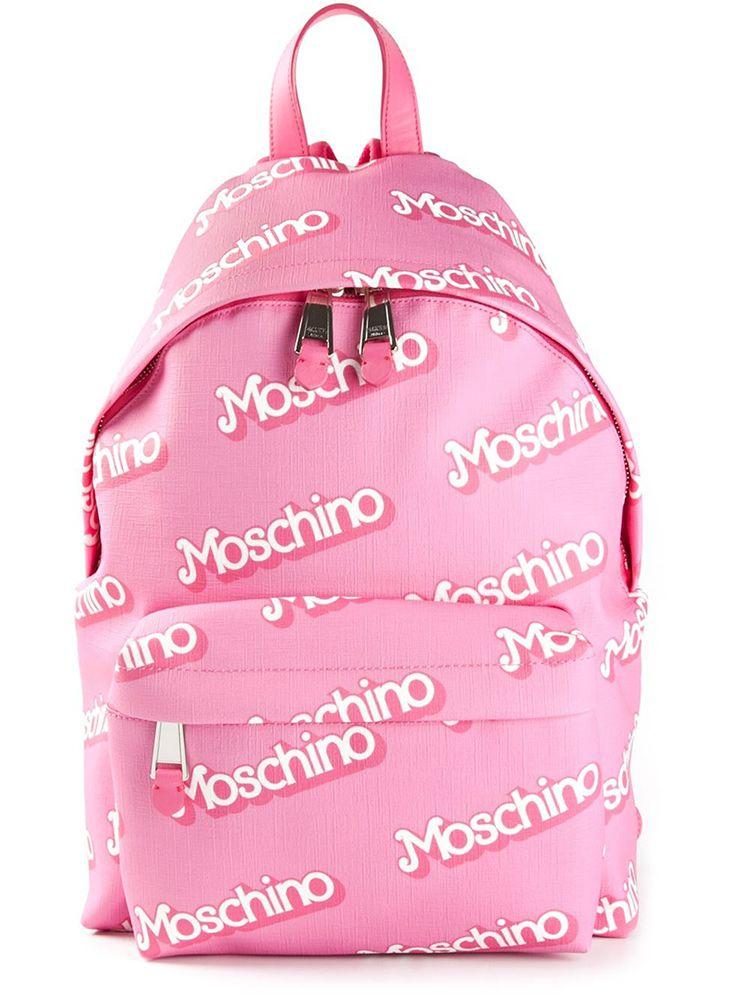 5b92be5b49a Moschino Logo Backpack Pink US 625 via farfetch.com