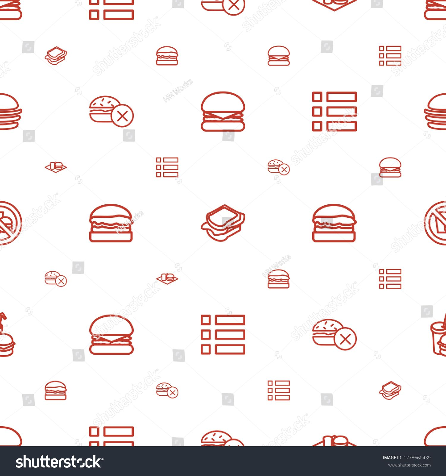 hamburger icons pattern seamless white background