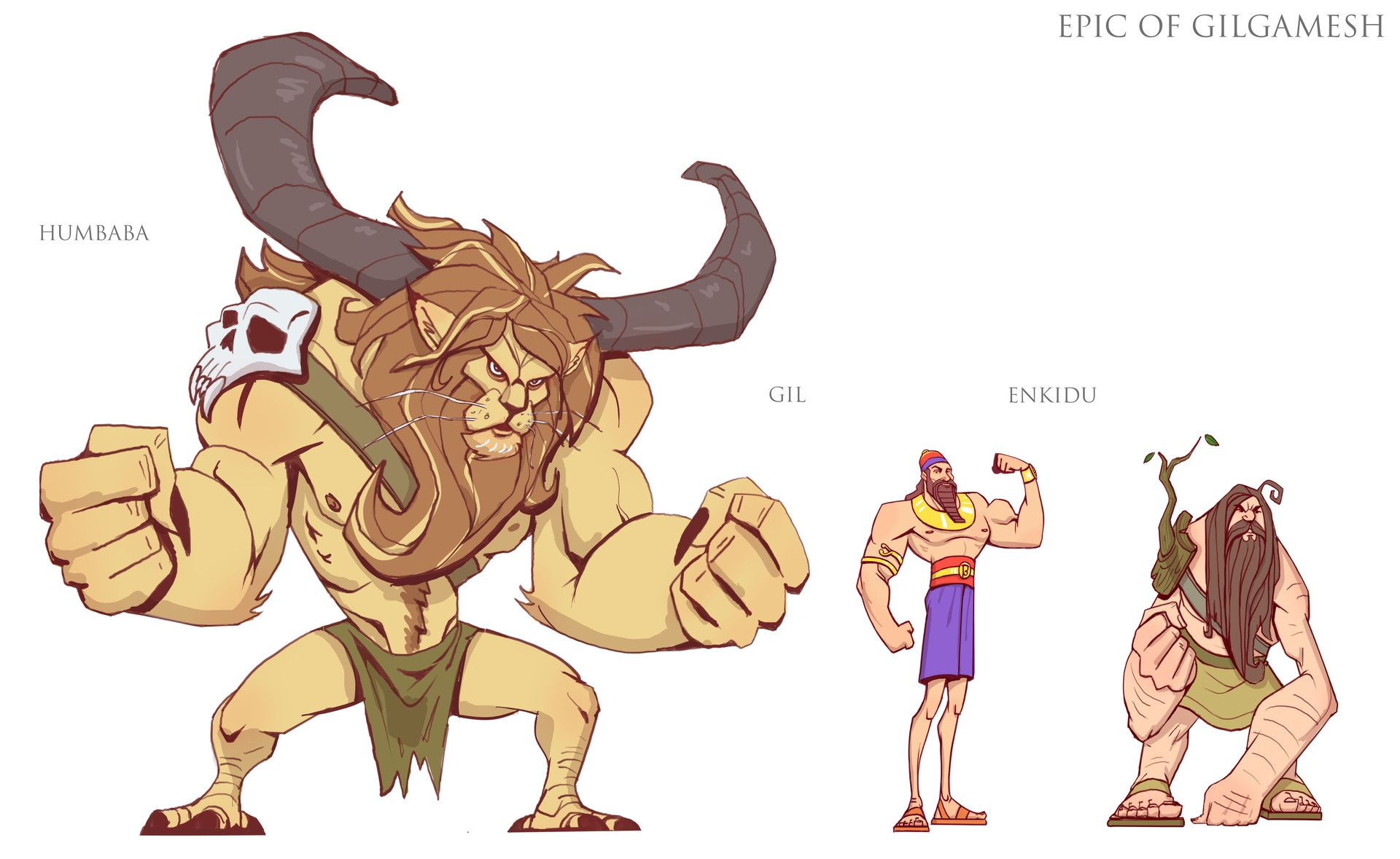 ArtStation Epic Of Gilgamesh Visual Development , Andrew