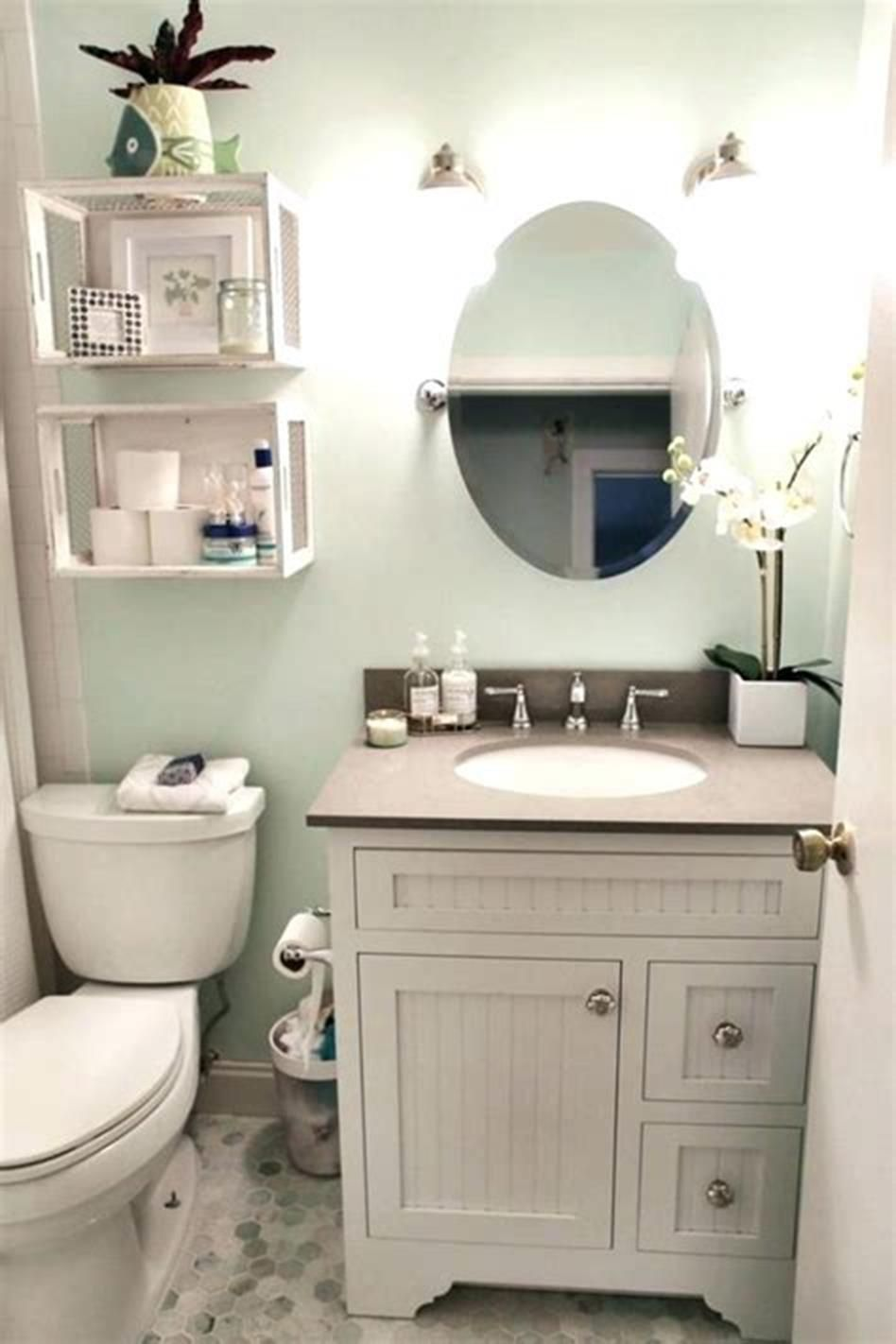 40 Most Popular Half Bathroom Decor Ideas 2019 Decorequired In 2020 Small Half Bathrooms Half Bathroom Decor Guest Bathroom Small