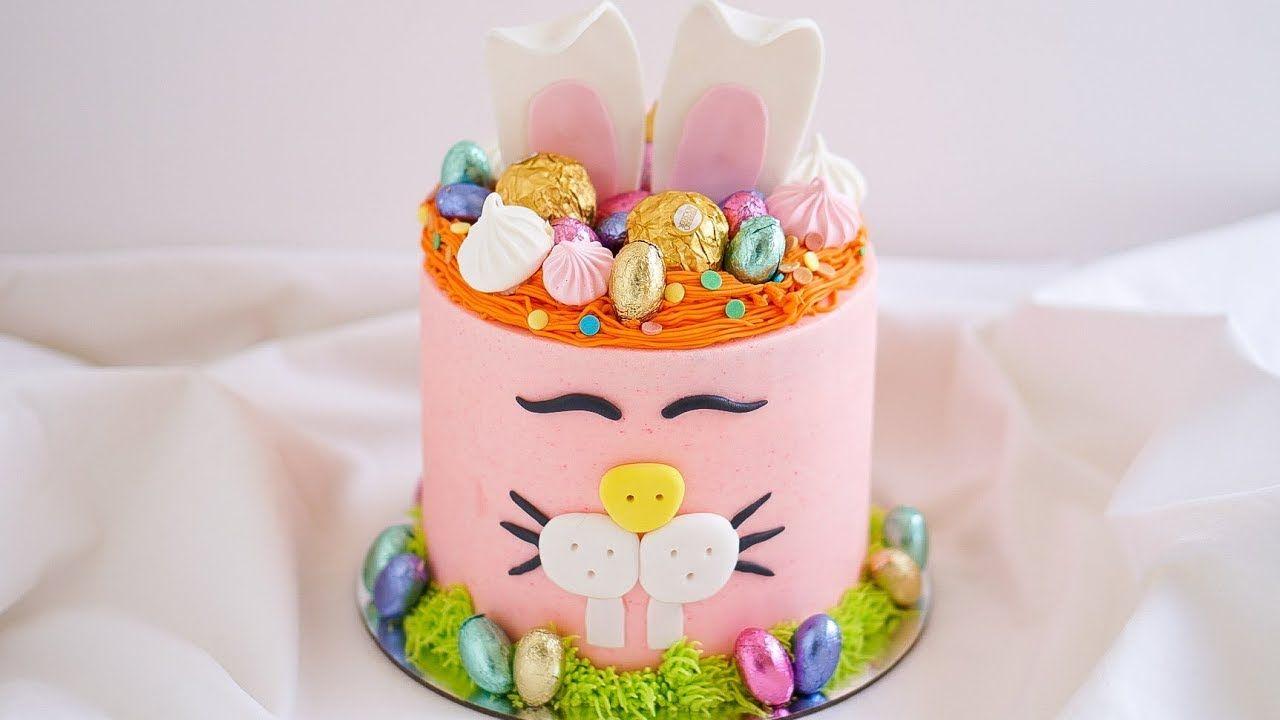 Easter bunny crown cake tutorial rosies dessert spot