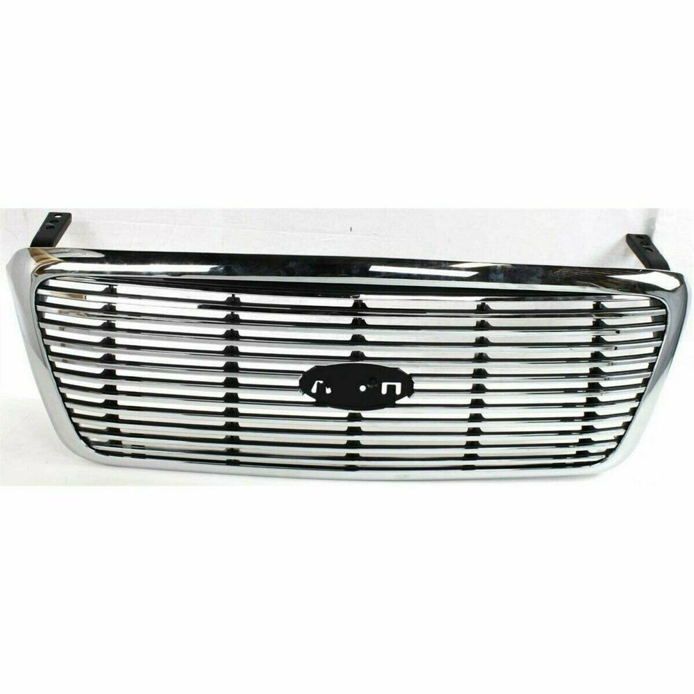 New Grille Chrome Frame With Silver Front For Ford F 150 2004 2008