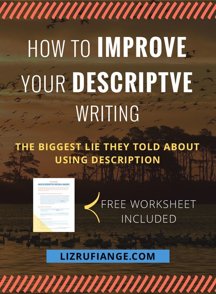 How to Improve Your Descriptive Writing [Worksheet Included]   Free ...