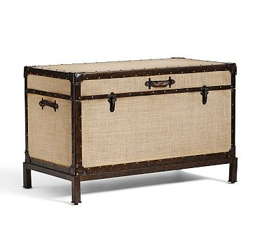Redford End Of Bed Trunk Potterybarn Family Room