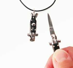 Be Dangerous With The Mini Switchblade Necklace Lol It Sort Of Reminds Me Troll S Knife From Movie Cat Eye That Little Thing Was Scary