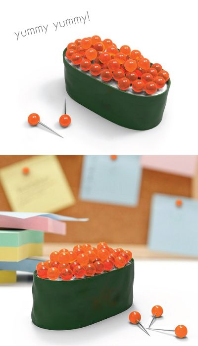 Adorable Sushi Pushpin. Unique Office Supplies. Christmas Gifts For Office  Staff. Holiday Gifts