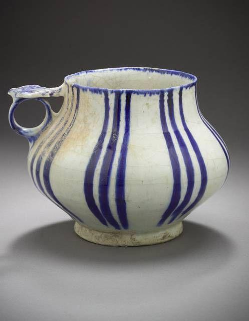 Tankard Iran Tankard, 12th or 13th century Ceramic; Vessel, Fritware, underglaze…