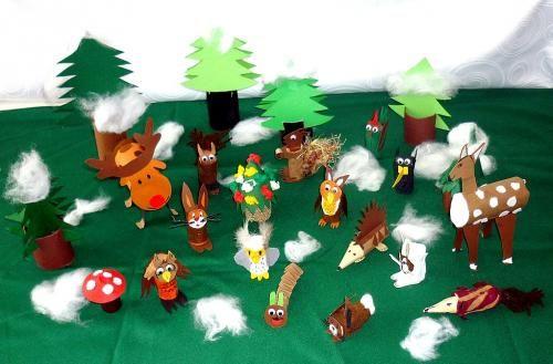 Lieder Basteln Tiere Winter Wald Korken Steffi