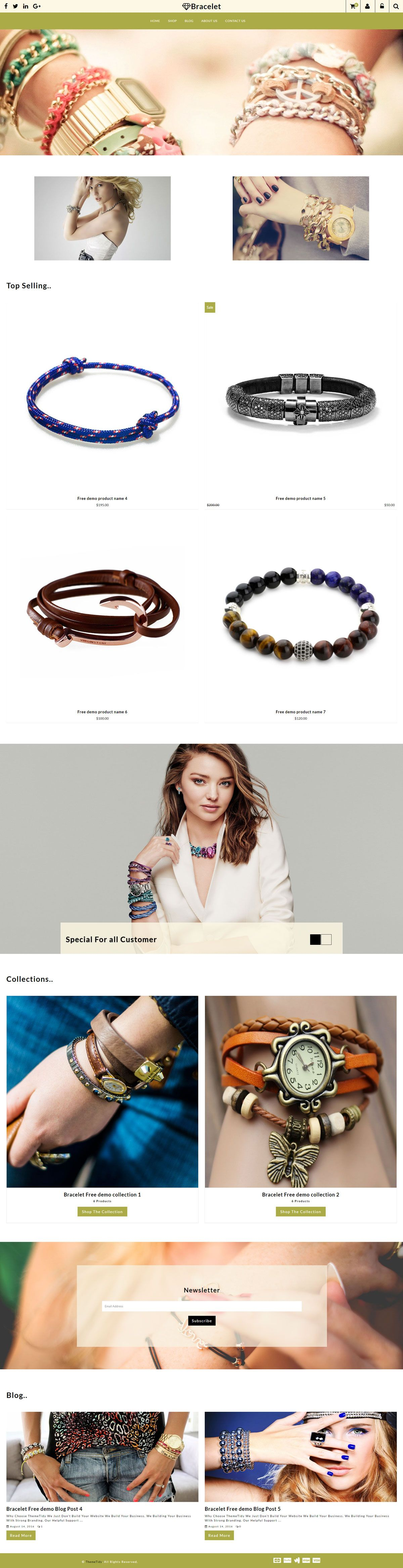 Bracelet Parallax Hand Bands shop Responsive Shopify