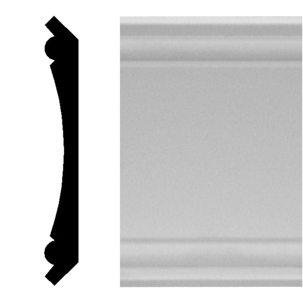 House Of Fara 3 4 In X 5 1 4 In X 96 In Mdf Primed Crown Moulding Primed White Products Crown Molding Master Bath Remodel House