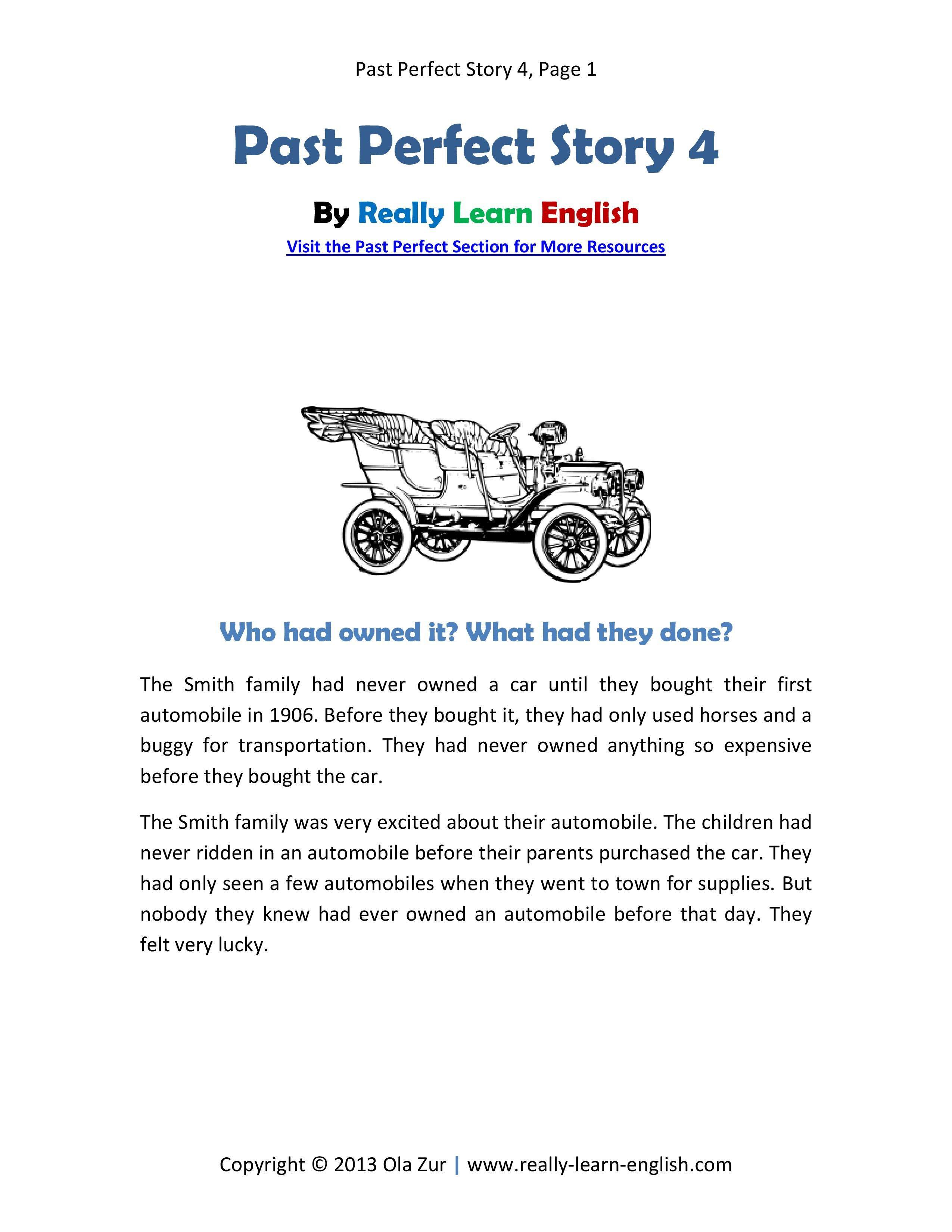 Free Printable Story And Worksheets To Practice The