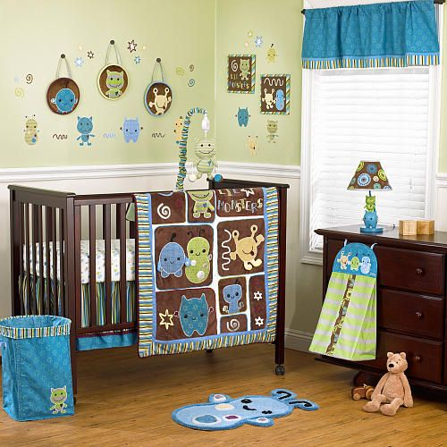 Cocalo Peek A Boo Monsters 7 Piece Crib Bedding Set