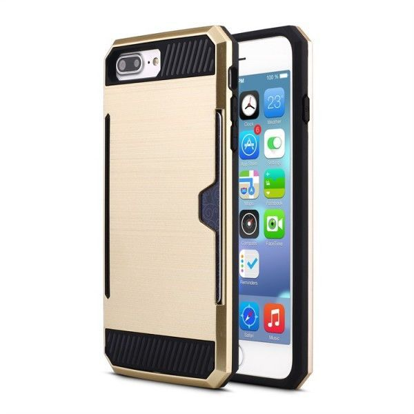 iPhone 7 Credit Card Armor Hybrid Case (Various color)