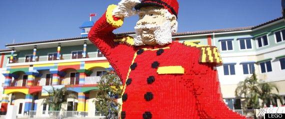 PHOTOS: Constructing A Lego Hotel | Lego models, Legoland and Lego