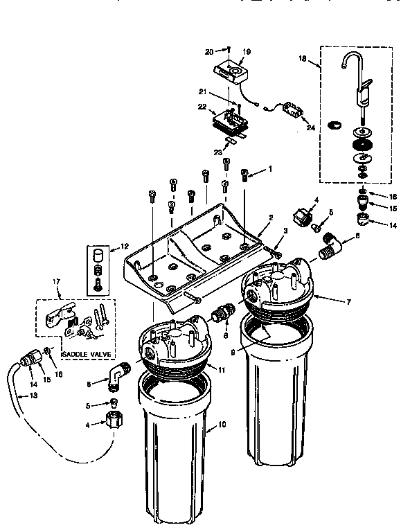 Kenmore Under Sink Water Filter System Parts