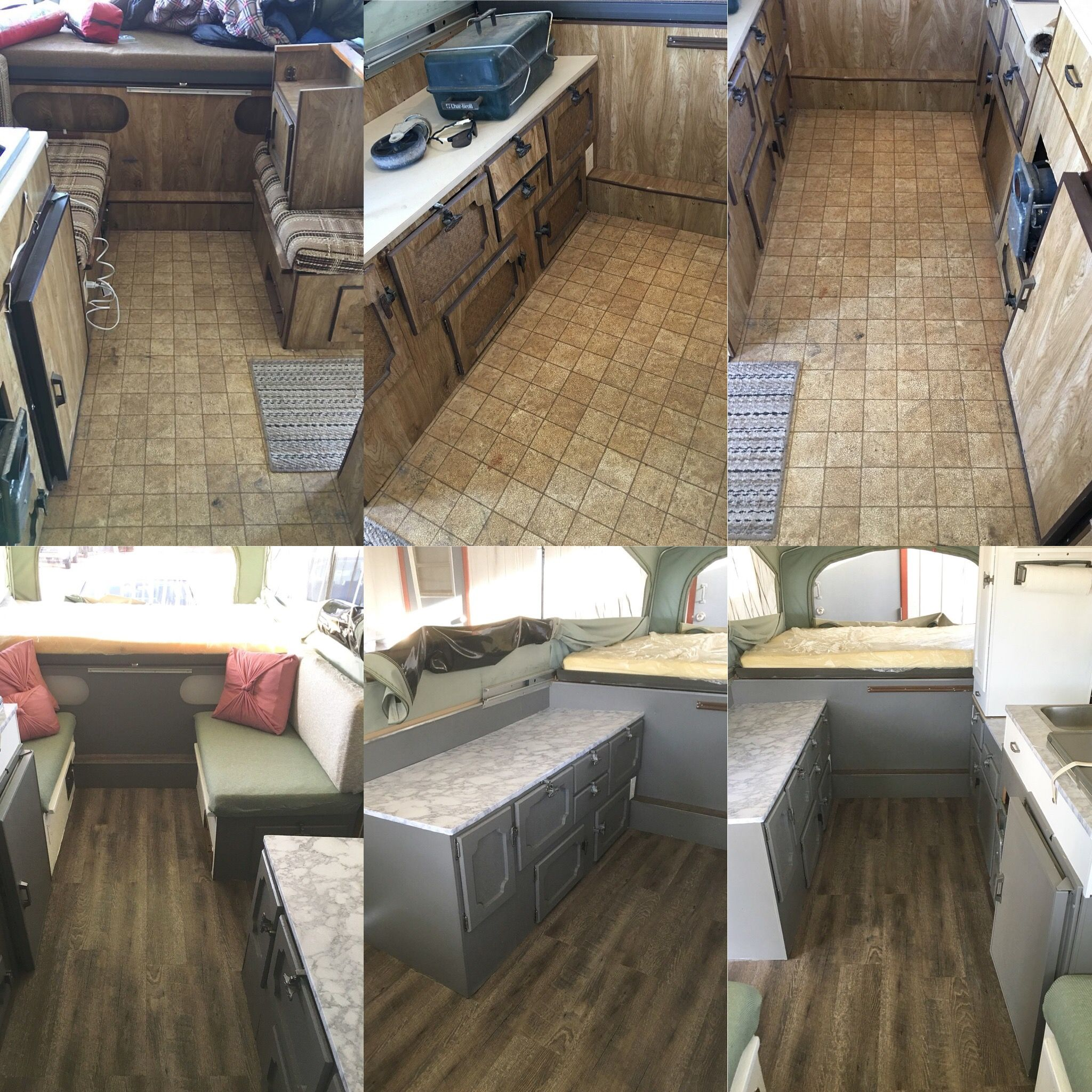This Our Remodel Of A 1984 Jayco Pop Up Camper Took About 2 Weeks