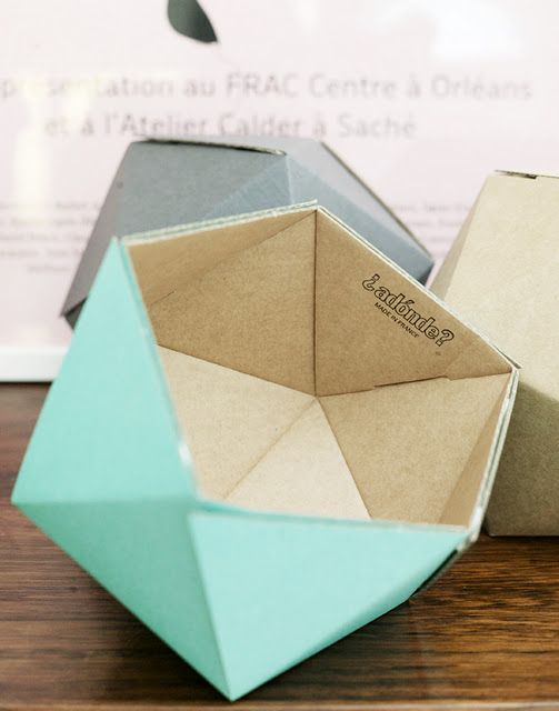 faceted It's folded/scored - I am intrigued. Must figure this one out.