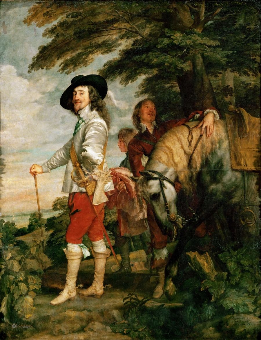 Dyck, Anthony van (1599 Antwerp - 1641 London) Portrait of Charles I on the hunt Louvre