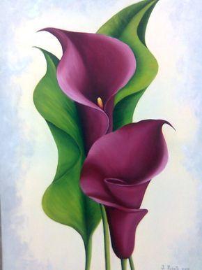 Oleo Flores Decorar Tu Casa Es Facilisimo Lily Painting Flower Painting Watercolor Flowers