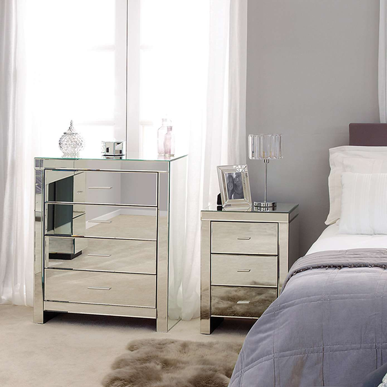 mirrored bedroom furniture sets Glass bedroom furniture