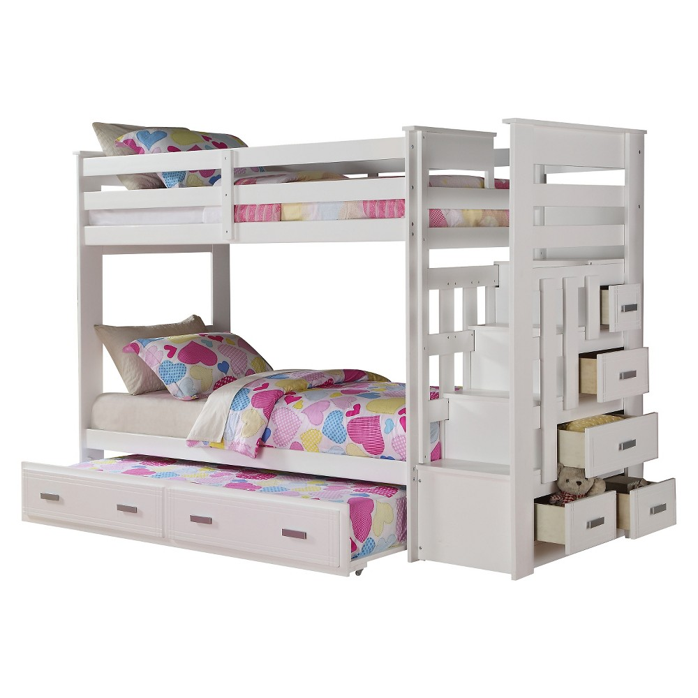 Loft bed with desk pottery barn  Allentown Kids Bunk Bed  WhiteTwinTwin  Acme  bunk bed ideas