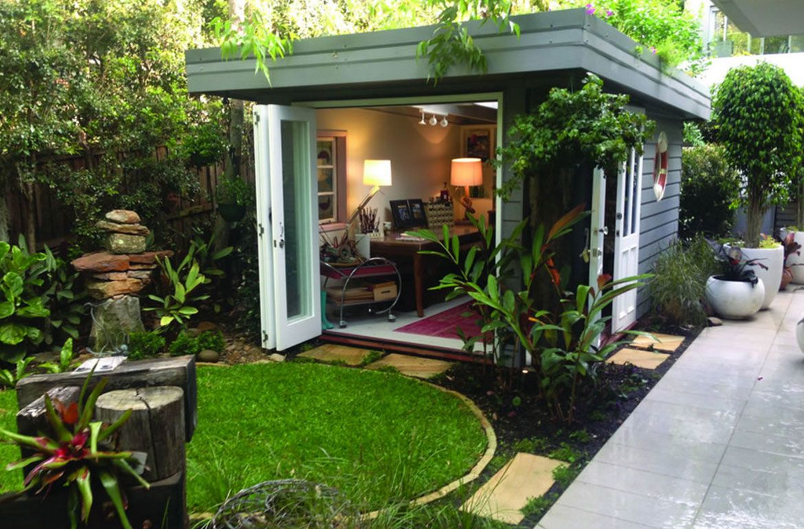 43 She Shed & Woman Cave Ideas: The Ladies Answer to the ... on Man Cave Patio Ideas id=39187
