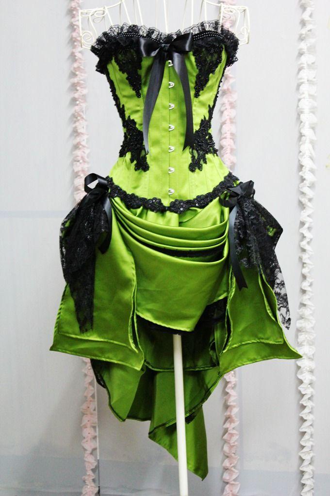 Custom Girls Graduation Dresses Short Lime Green Corset Prom Dresses