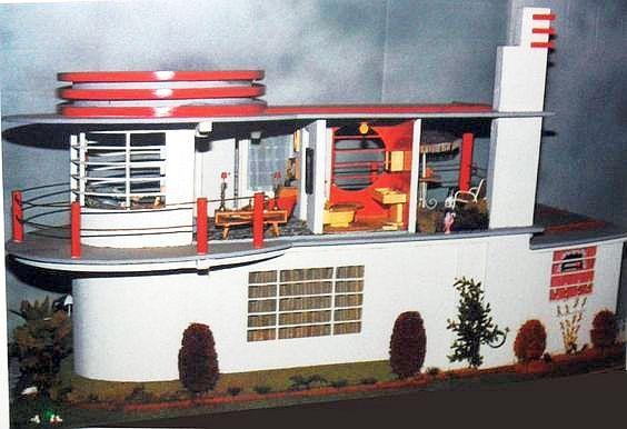 Art Deco Dollhouse. | Art deco home, Doll house, Modern dollhouse