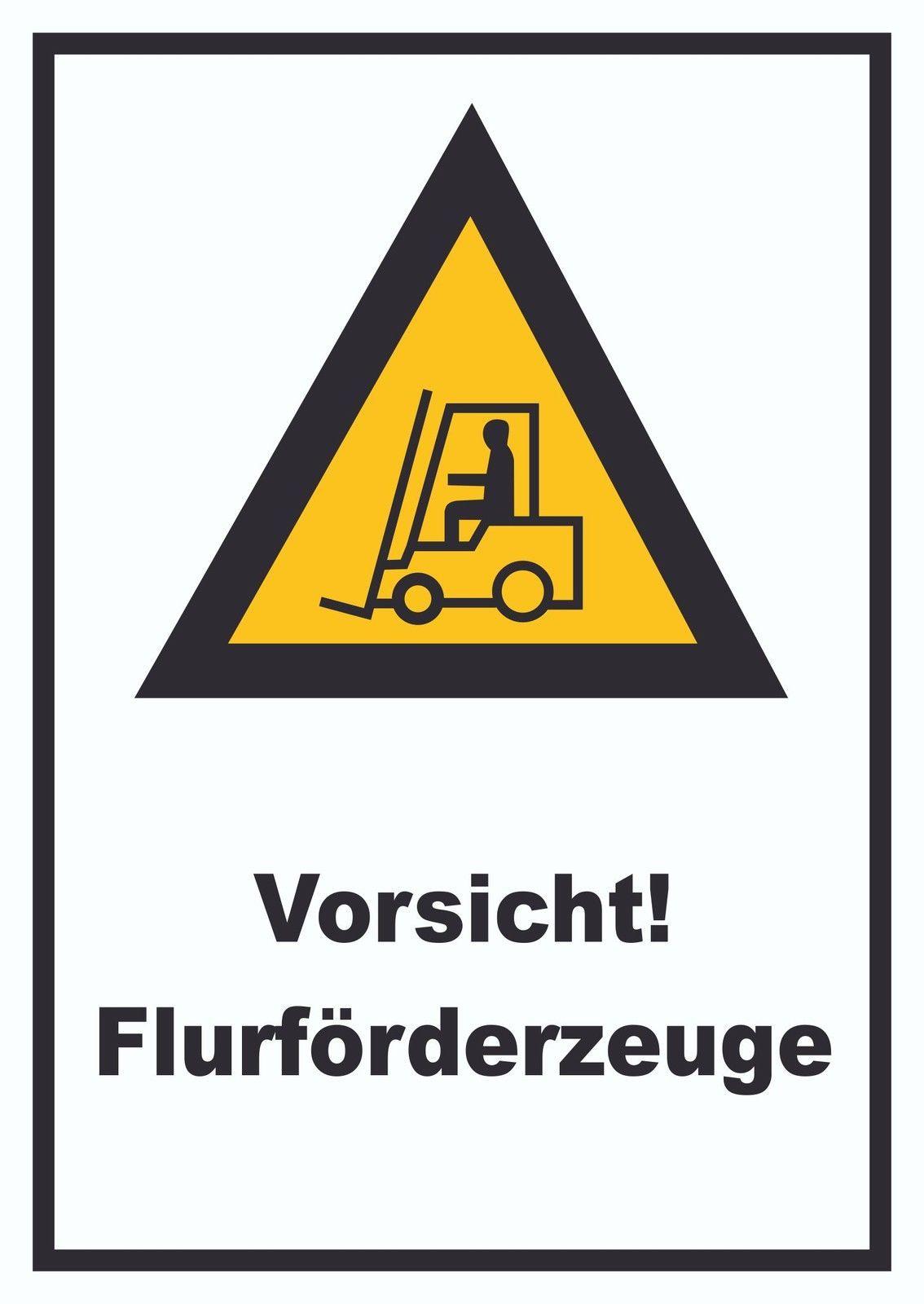 Achtung Gabelstapler Schild Vorsicht Flurförderfahrzeug
