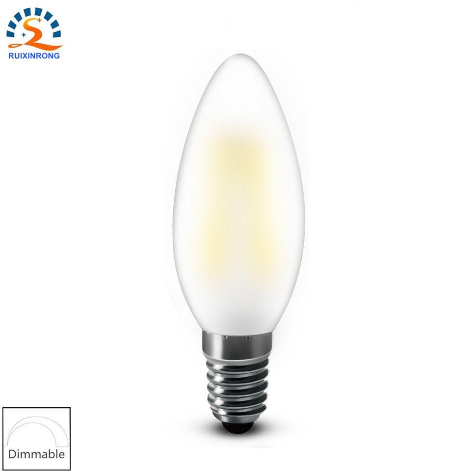 Rxr Frosted Candle Bulb Bent Tip Vintage Chandelier Led Filament Lamp Light